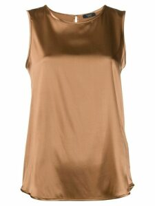 Peserico straight-fit top - Brown