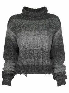 RtA Beau gradient stripe jumper - Grey