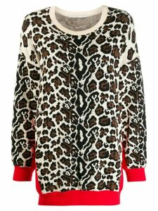 Stella McCartney leopard print jumper - NEUTRALS