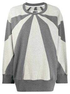 Mm6 Maison Margiela colour-block sweatshirt - Grey
