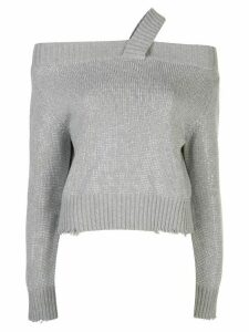 RtA Beckett sequinned sweater - Grey