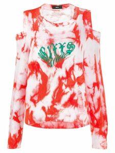 Diesel tie-dye print jumper - Red