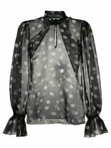 Dolce & Gabbana chiffon polka dot blouse - Black