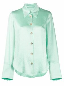 Nanushka pointed collar shirt - Green
