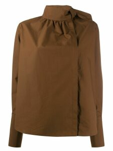 Fendi knot detail blouse - Brown