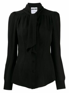 Moschino longsleeved pussy bow shirt - Black