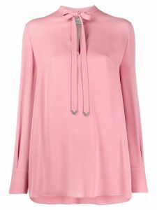 Valentino tie-neck long-sleeve blouse - PINK