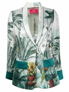 F.R.S For Restless Sleepers silk printed blazer - Blue