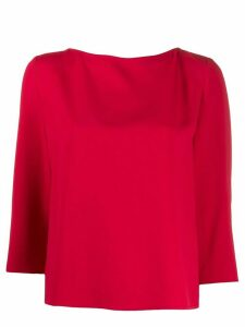 Emporio Armani back pleated boxy top - Red