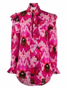 Alexander McQueen floral ruffled blouse - PINK