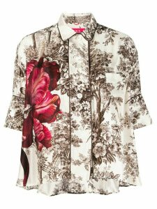 F.R.S For Restless Sleepers silk floral-printed blouse - White