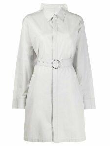 Maison Margiela belted shirt-style coat - Grey