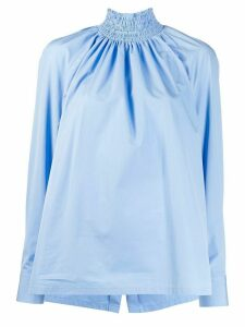 Prada smocked collar blouse - Blue
