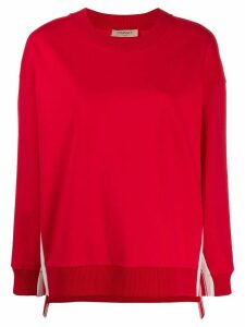 Twin-Set oversized logo stripe sweatshirt - Red