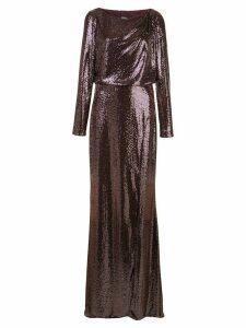 Badgley Mischka sequin evening dress - PURPLE