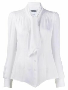 Moschino longsleeved pussy bow shirt - White