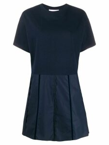 See by Chloé short sleeve scalloped details dress - Blue