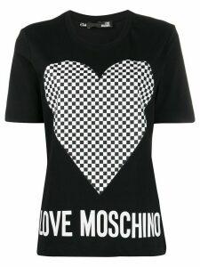 Love Moschino logo print T-shirt - Black