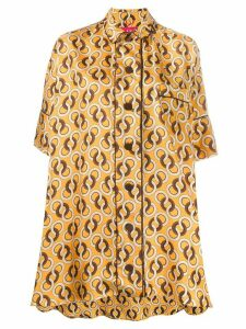 F.R.S For Restless Sleepers silk geometric-print blouse - Yellow