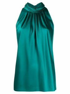 DVF Diane von Furstenberg pleated halter neck top - Green