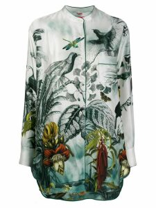 F.R.S For Restless Sleepers silk tropical-print blouse - Green