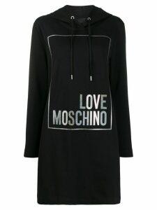Love Moschino logo hoodie - Black
