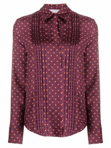 Gabriela Hearst polka dot pleated shirt - PINK