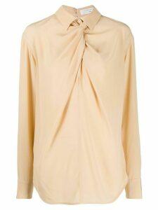 Victoria Beckham twist neck shirt - NEUTRALS
