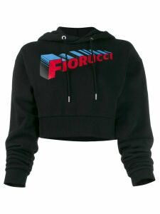 Fiorucci SuperFiorucci cropped hoodie - Black