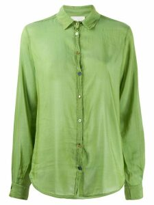 Forte Forte sheer contrasting-buttons shirt - Green