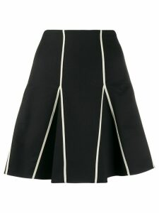 RedValentino contrasting trim pleated skirt - Black