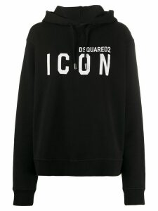 Dsquared2 Icon logo hooded sweatshirt - Black
