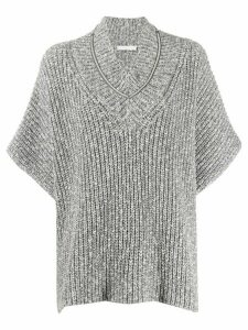 Fabiana Filippi oversized ribbed jumper - Grey