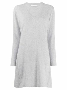 Fabiana Filippi long-sleeved flared top - Grey