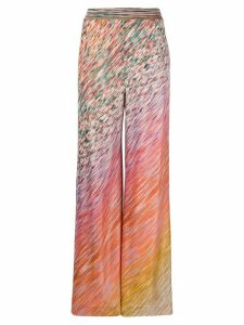 Missoni color-twister wide trousers - PINK