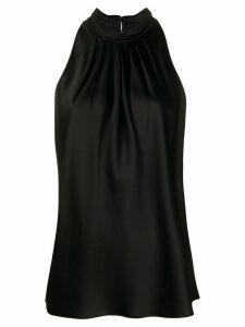 DVF Diane von Furstenberg pleated halter neck top - Black