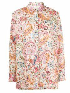Etro oversized paisley print shirt - NEUTRALS