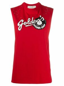 Golden Goose logo print tank top - Red