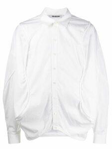 Chalayan long sleeve curved seam shirt - White