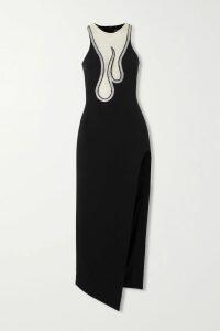 Co - Pleated Floral-print Silk-satin Midi Dress - Yellow