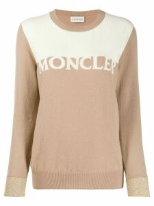 Moncler two tone jumper - NEUTRALS