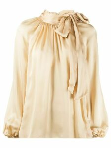 Zimmermann high-neck pussybow blouse - NEUTRALS