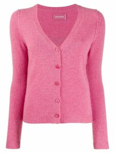 Zadig & Voltaire Nerys Art logo cardigan - PINK