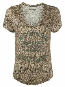 Zadig & Voltaire Aretha leopard-print T-shirt - NEUTRALS