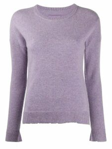 Zadig & Voltaire Cici star-patch cashmere jumper - PURPLE