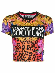 Versace Jeans Couture cropped logo T-shirt - Black
