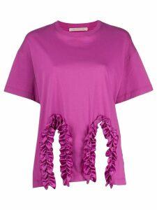 Christopher Kane frill trim T-shirt - PINK