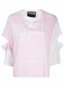 Versace Jeans Couture logo print T-shirt - PINK