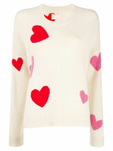 Zadig & Voltaire Heart pattern knitted jumper - NEUTRALS
