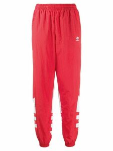 adidas logo print track trousers - Red